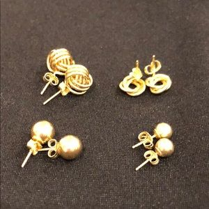 Jewelry - 14k yellow gold set of 4 pairs of pierced earrings